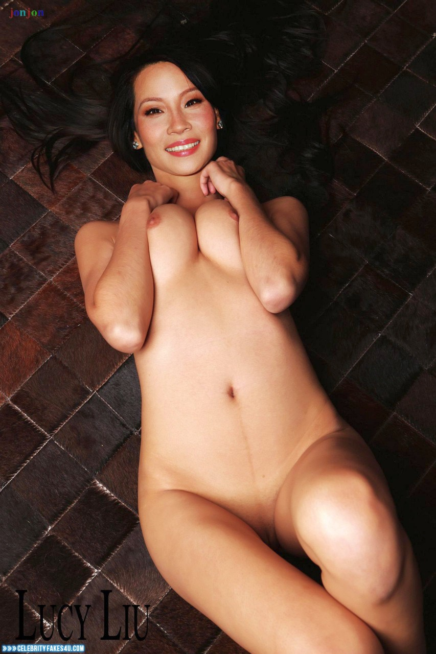 Lucy Liu Fake, Horny, Squeezing Breasts, Porn