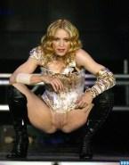 Madonna Legs Spread Pussy Public 001