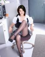 Marlene Lufen Stockings Upskirt Pussy 001