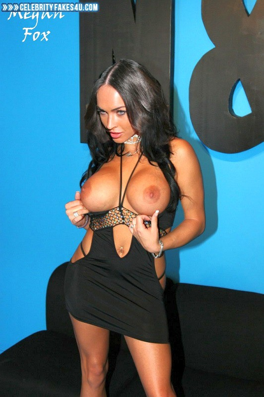 Megan Fox Fake, Big Tits, Flashing Tits, Public, Tits, Porn