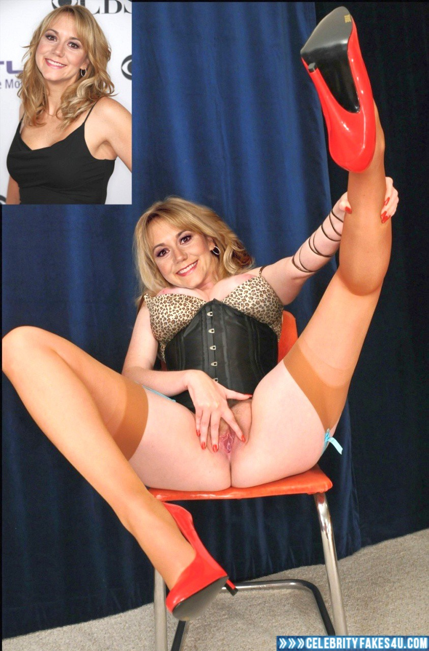 Megyn Price Fake, Big Tits, Heels, Lingerie, Pussy, Pussy Spread, Stockings, Tits, Porn