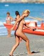 Michelle Hunziker Voyeur Beach Naked 001