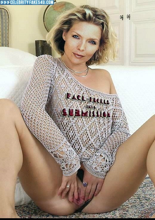 Michelle Pfeiffer Fake, Panties Pulled Aside, Pussy Spread, Porn