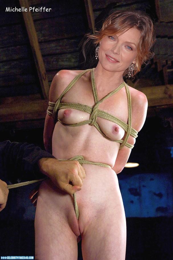Michelle Pfeiffer Fake, Camel Toe, Rope Bondage, Squeezing Breasts, Porn