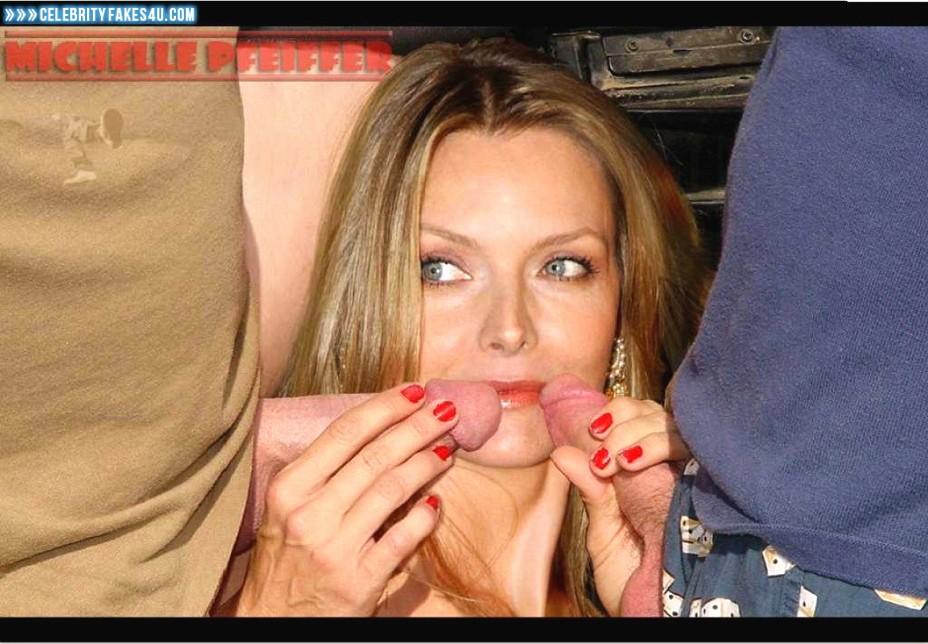 Michelle Pfeiffer Fake, Blowjob, Threesome, Porn