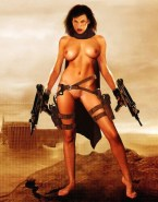 Milla Jovovich Great Tits Resident Evil Naked 001