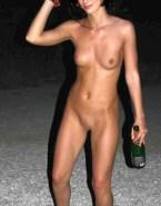 Milla Jovovich Public Topless Naked 001
