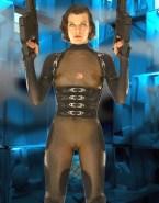 Milla Jovovich See Thru Resident Evil Porn 001