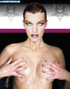 Milla Jovovich Wet Boobs Squeezed Nude 001