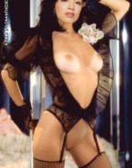 Ming Na Wen Lingerie Exposed Tits 001
