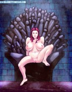Natalie Dormer as Margaery Tyrell Nude - Game of Thrones Cartoon Fake-004