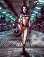 Natalie Dormer as Naked Private Lorraine - Captain America Porn Fake-001