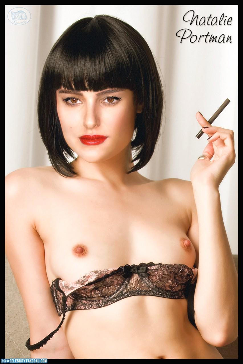 Natalie Portman Fake, Lipstick, Nude, Smoking, Tits, Porn