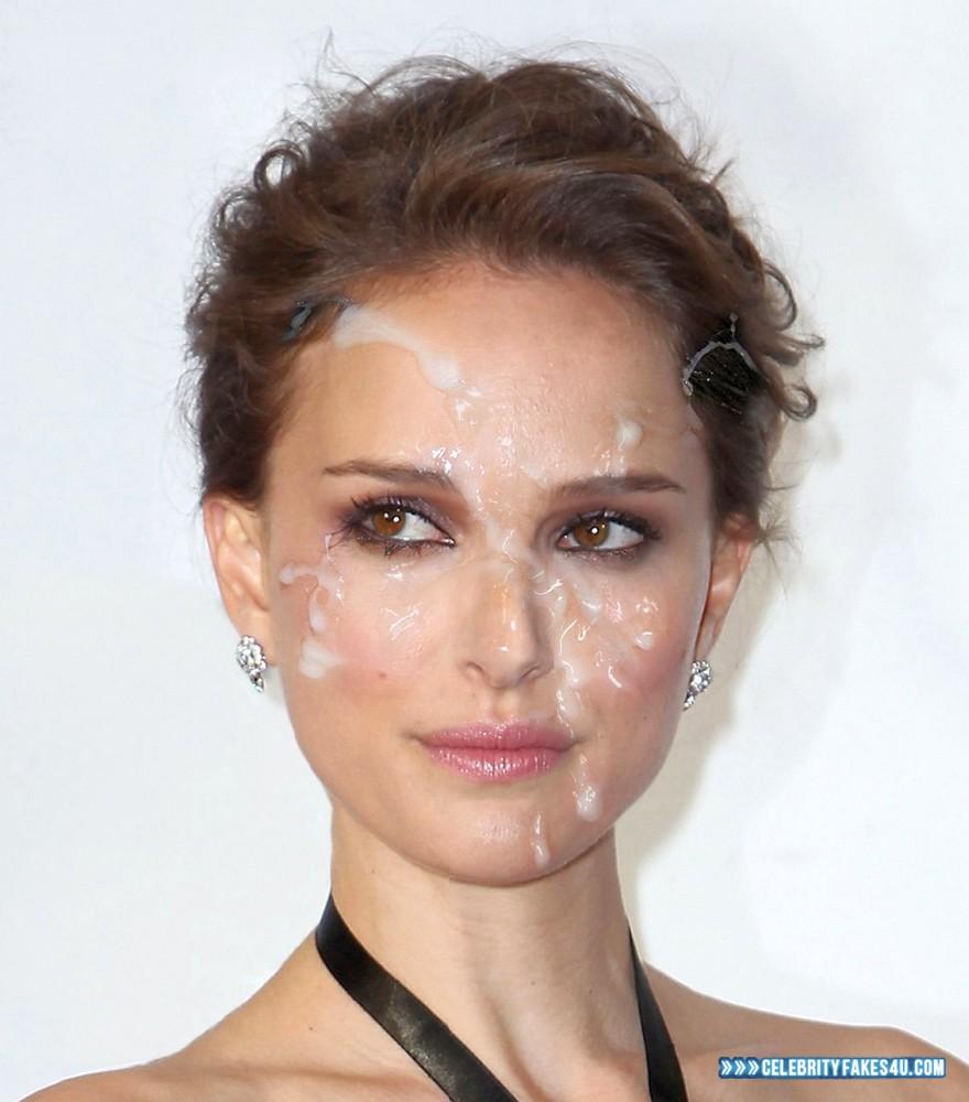 Natalie Portman Fake, Cum Facial, Cumshot, Horny, Porn