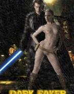 Natalie Portman Knee High Boots Wet Nude Fake 001