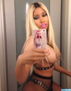 Nicki Minaj Fishnet Stockings Hot Outfit Fake 001