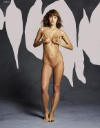 Olga Kurylenko Nude Body Squeezing Tits 002