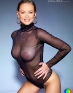 Olivia Wilde See Thru Tits Fake 001