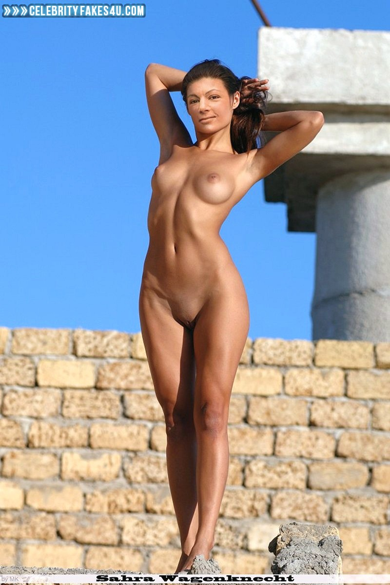 Sahra Wagenknecht Fake, Camel Toe, Completely Naked Body / Fully Nude, Sexy Legs, Very Nice Tits, Porn