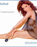 Sandra Bullock Cartoon See Thru Naked 001