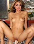 Sarah Hyland Dildo Sex Toy Naked 001