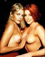 Sarah Michelle Gellar Buffy The Vampire Slayer Lesbian Nude 001