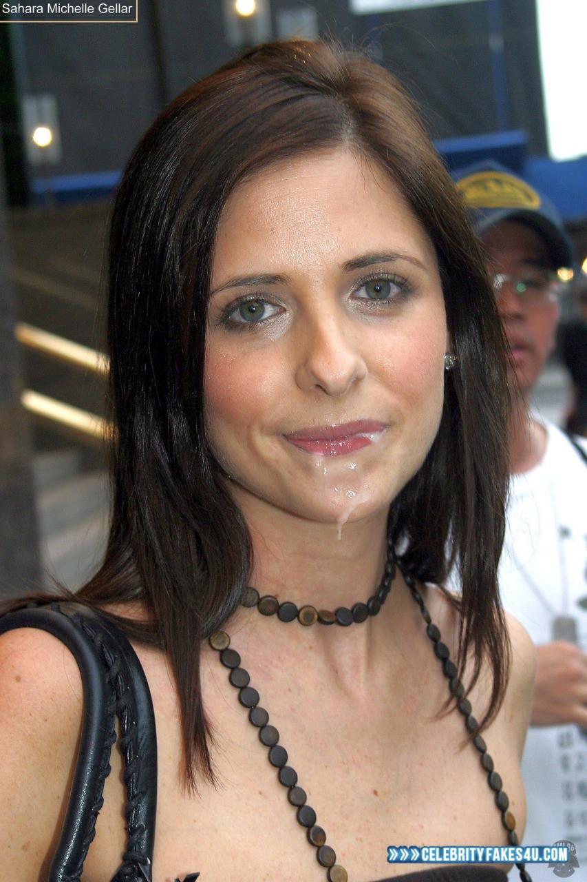 Sarah Michelle Gellar Fake, Cum Facial, Cumshot, Swallowing Cum, Porn
