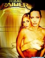 Sarah Michelle Gellar Tomb Raider Squeezing Tits 001