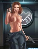 Scarlett Johansson Cartoon Topless Naked 001