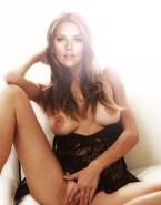 Scarlett Johansson Spread Pussy Lingerie Nude 001