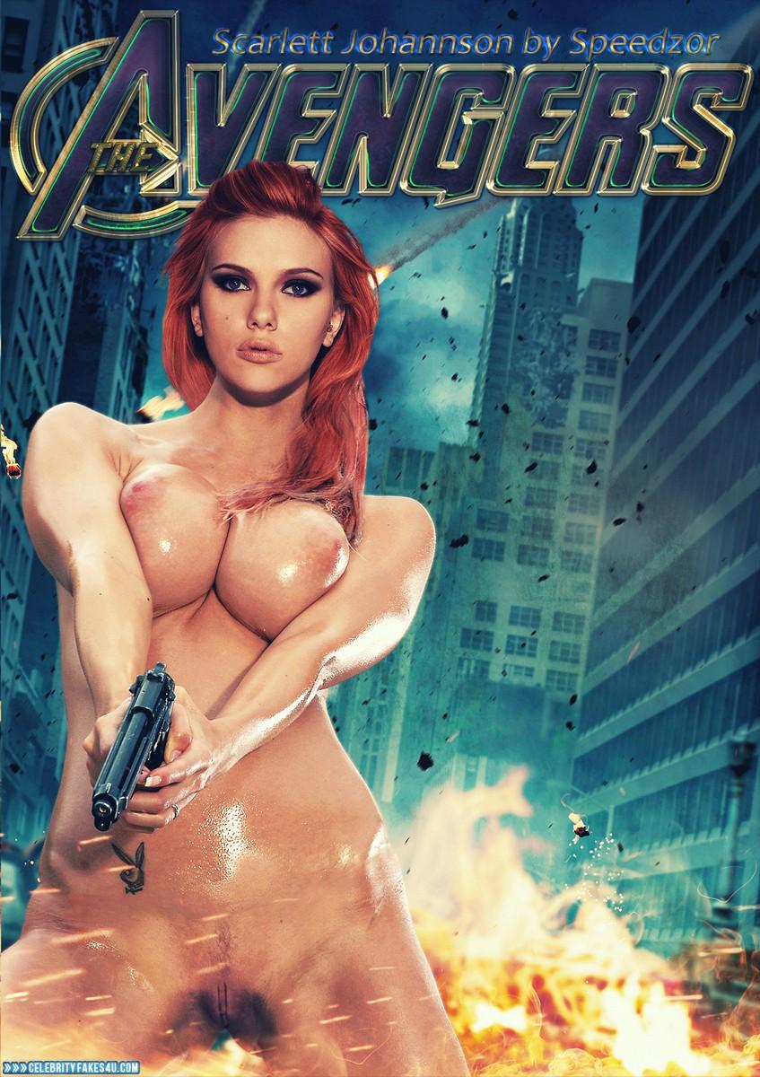 Scarlett Johansson Topless The Avengers Naked 001 -6381