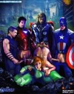 Scarlett Johansson The Avengers Gangbang Sex 001