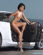 Selena Gomez Legs Outdoors Fake 001