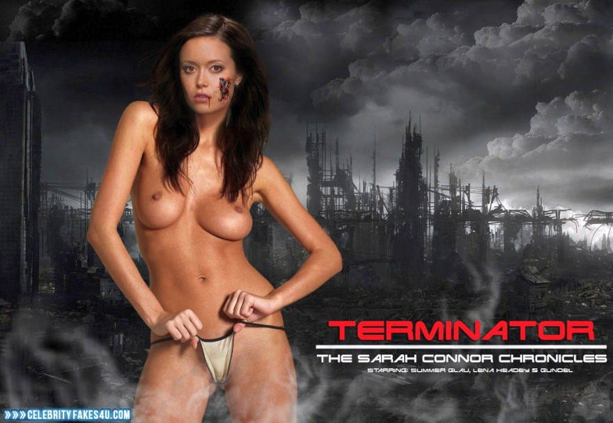 Summer Glau Fake, Masturbating, Pussy, Series, The Terminator, Thong, Tits, Very Nice Tits, Porn