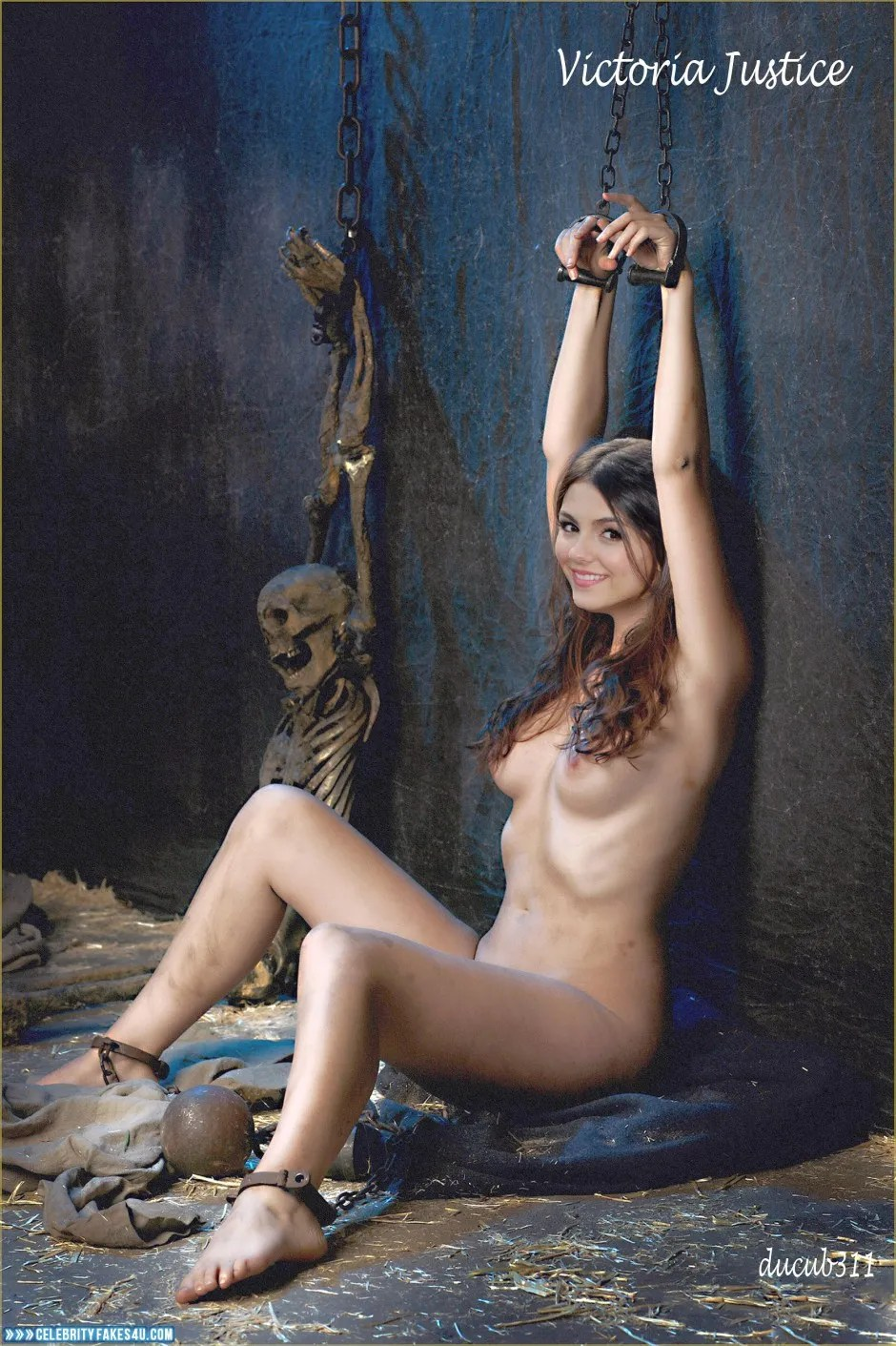 Victoria Justice Breasts Bondage Naked Fake 002 -4455