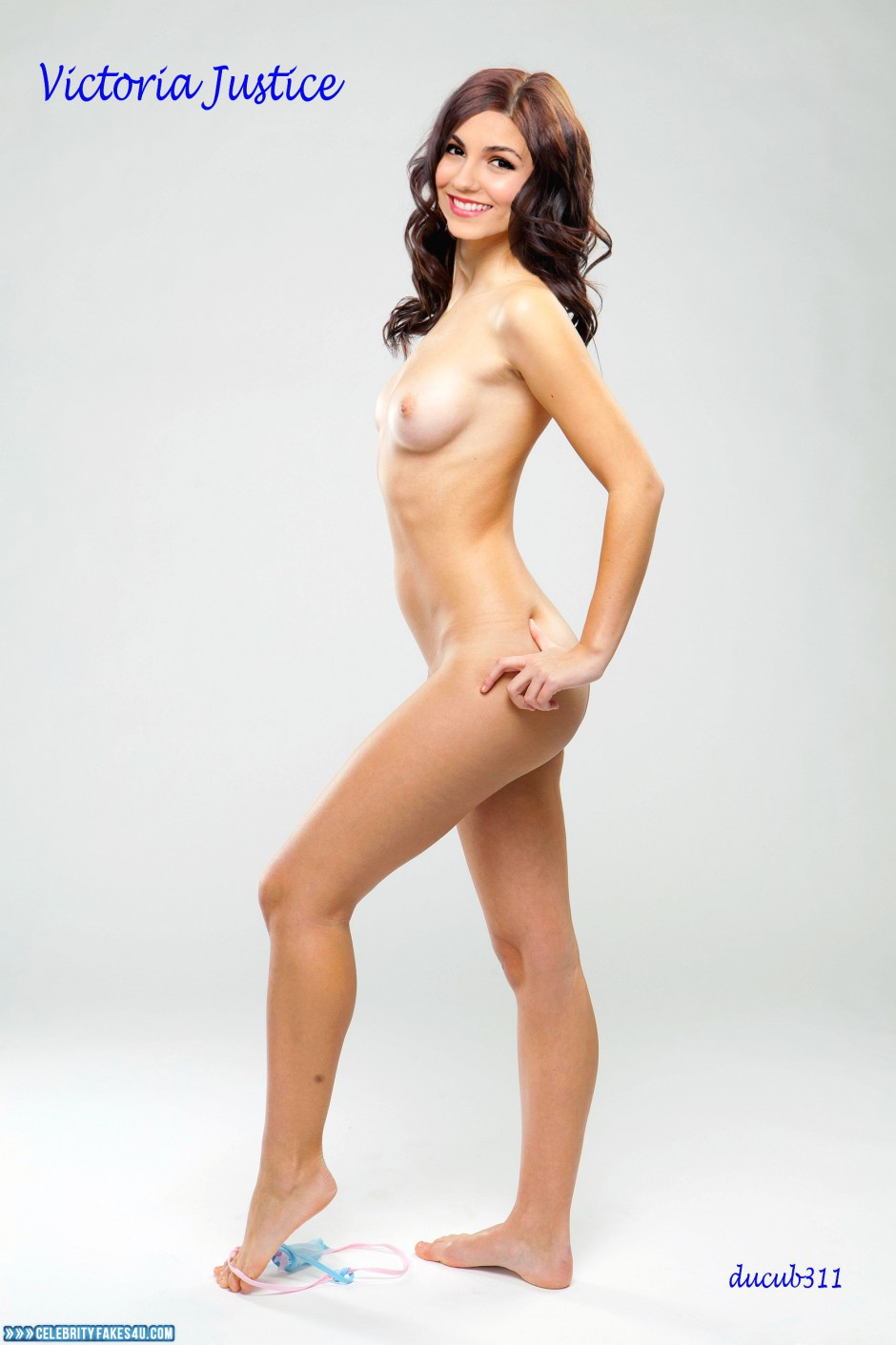 Victoria Justice Fake, Legs, Naked Body, Nude, Panties, Tits, Undressing, Porn