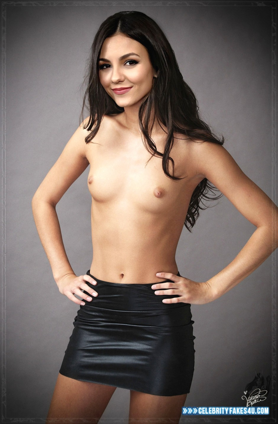 Victoria Justice Skirt Breasts Xxx Fake 001 -8368