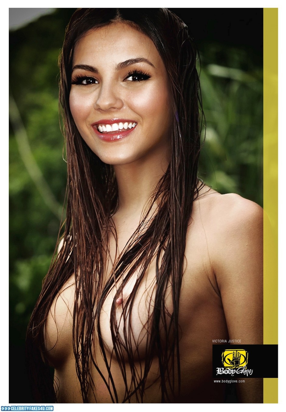 Victoria Justice Fake, Brunette Hair, Nude, Outdoor, Tits, Wet, Porn