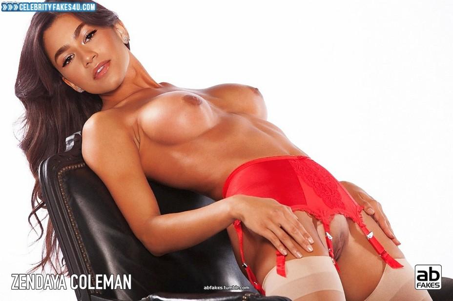 Zendaya Coleman Fake, Stockings, Topless, Porn
