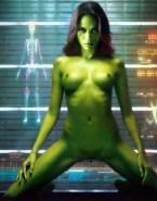Zoe Saldana Guardians Of The Galaxy Nude Body 002