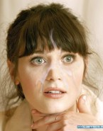 Zooey Deschanel Facial Cumshot Naked Fake 002