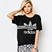 Adidas Tee With Inked Print Trefoil Logo