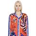 Emilio Pucci Floral Silk Twill Shirt