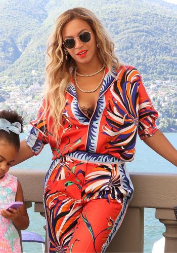 Beyonce Tumblr Fashion - Emilio Pucci Floral Silk Twill Shirt + Pants