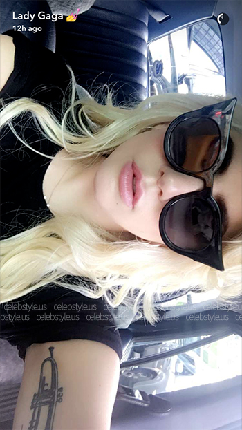 Seen on Lady Gaga Snapchat: Le Specs Flashy Cat Eye Sunglasses