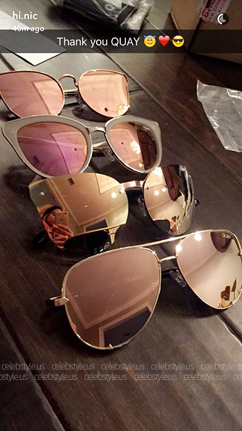Nicole Guerriero Snapchat Quay Australia Cat Eye Sunglasses