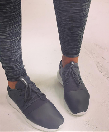 Vogue Williams wearing Adidas Tubular Viral Sneakers on Instagram - July 2016