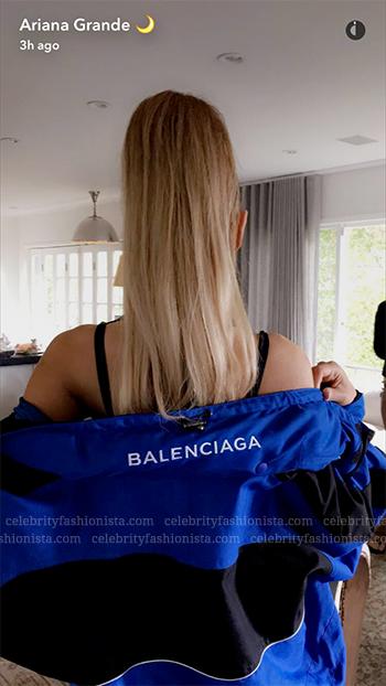 Ariana Grande Snapchat: Balenciaga Oversized Shell Parka Jacket
