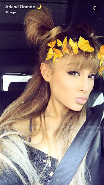 Seen on Ariana Grande Snapchat: Skivvies By For Love & Lemons Ruby Lace Bra