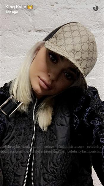 Kylie Jenner Snapchat: Gucci GG Supreme Baseball Hat ...